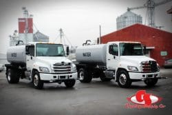 Check out this Hino with Curry Supply 2K Water Truck Body