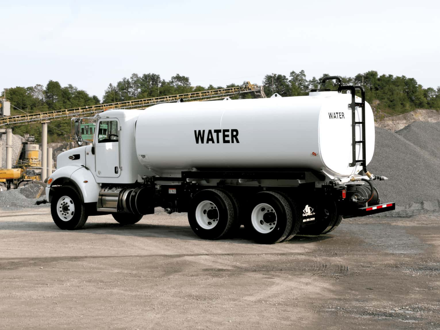 How do you operate a water truck safely
