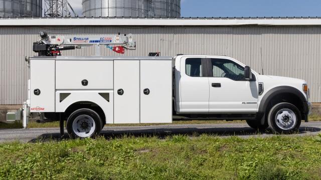 keystone mechanic service trucks with crane